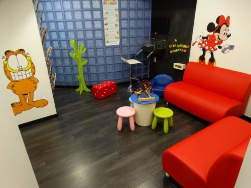 sala de espera de odontopediatria